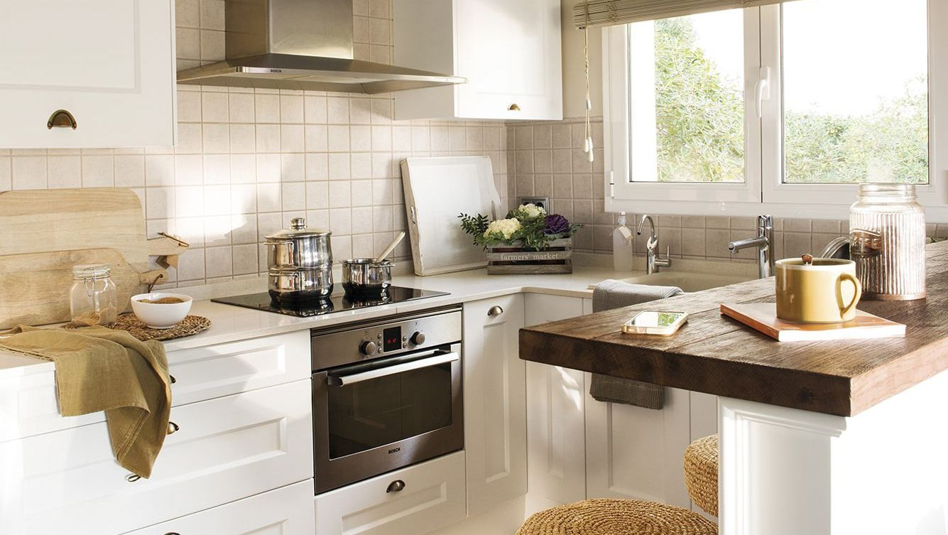 cocinas pequeñas etiqueta | Muebles Cocinas