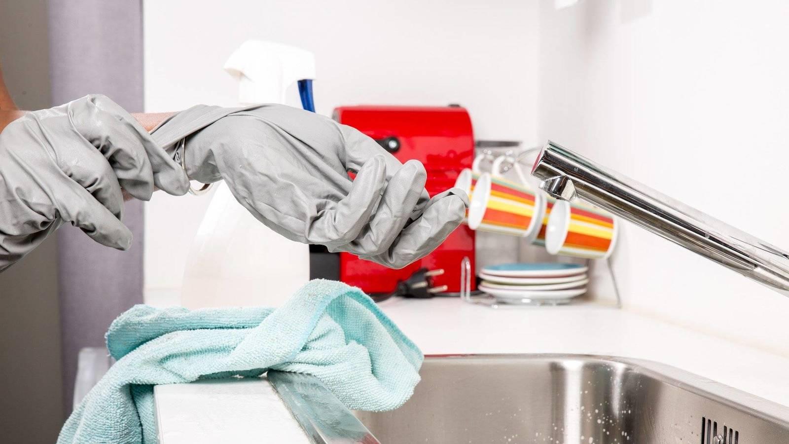 coronavirus limpiar cocina